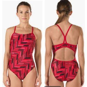 NWT Speedo Endurance+ Angles Free Back Swimsuit